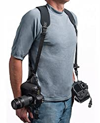 OP/TECH USA 6501082 Double Sling Neoprene Harness Carries 2 Cameras in Sling Style (Black)