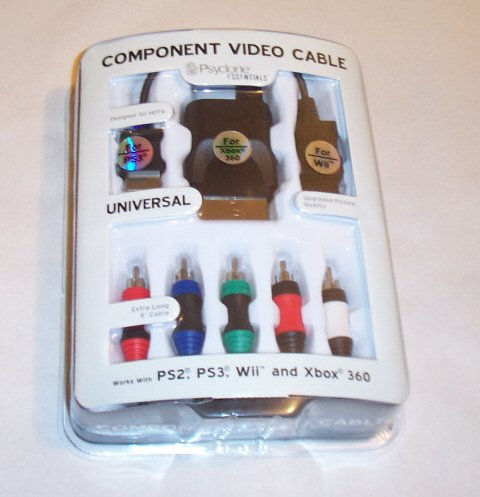 UNIVERSAL COMPONENT VIDEO CABLE FOR Wii, PS2, PS3, & XBOX 360