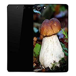 Snoogg White Mushroom Designer Protective Phone Back Case Cover For Micromax Canvas Selfie Q348