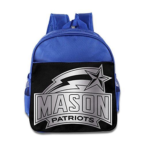 george-mason-patriots-platinum-logo-children-school-royalblue-backpack-bag