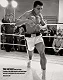 Laminated Celebrity Mini Poster featuring the Iconic Boxer Muhammad Ali in Black and White 40x50cm
