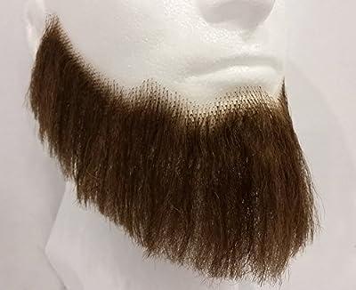 Full Character Beard MEDIUM BROWN - no. 2024 - REALISTIC! 100% Human Hair - Perfect for Theater
