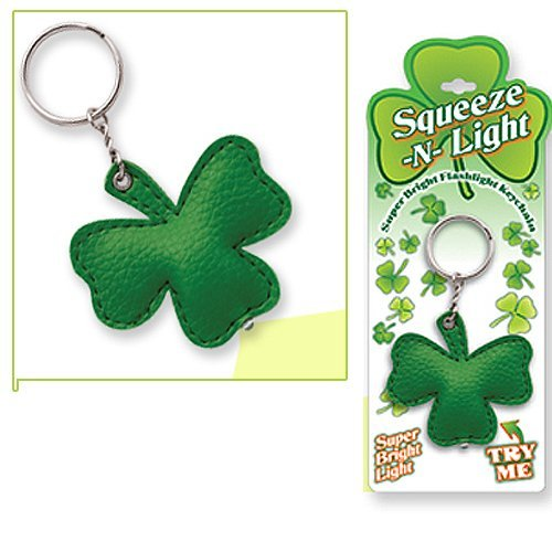 Irish | St Patricks Shamrock Flashlight Key Chain