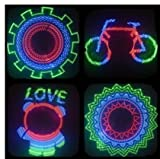 MAYMOC 48 LED Spoke Light 48 Pattern DIY Custom Programmable Colorful Hot Wheels Bicycle Wheel Lights Message Bike Wheel Lights Riding Lighting