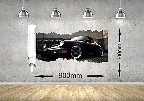 porsche-911-auto-rip-mauer-design-junge-madchen-buro-kinder-schlafzimmer-no1-900mm-x-500mm
