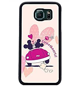 PrintDhaba Sweethearts D-2395 Back Case Cover for SAMSUNG GALAXY S6 EDGE (Multi-Coloured)