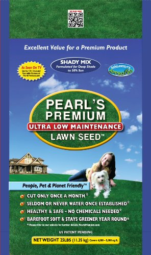Pearl's Premium Grass Seed: Shady Mixture 25 LBs