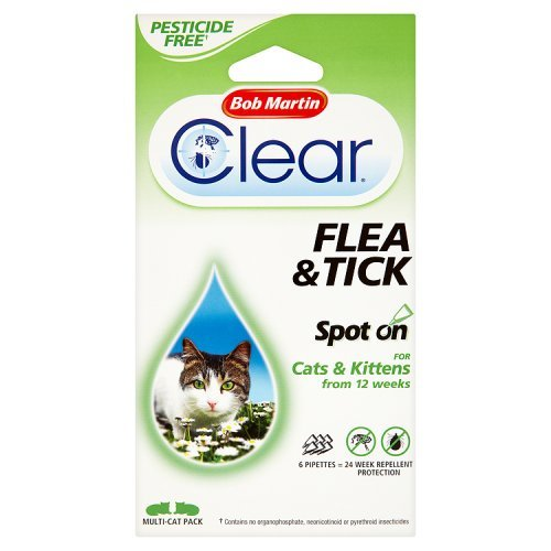 bob-martin-clear-24-weeks-repellent-protection-flea-and-tick-spot-for-cats