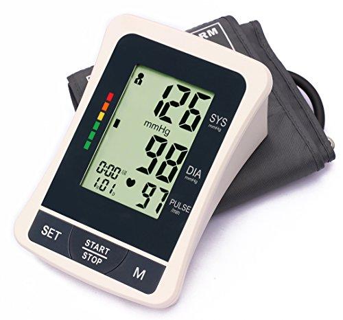 LotFancy Blood Pressure Monitor Automatic Digital BP Machine Upper Arm Cuff Irregular Heartbeat Detector Accurate Portable Home Use (M Cuff 8.6-14.2 inch) (Blood Pressure Monitoring Machine compare prices)