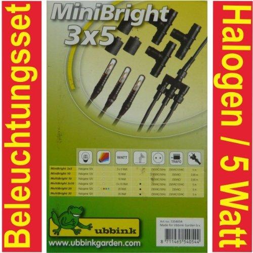 Ubbink Teichbeleuchtung Gartenteich Leuchte Mini Bright 3×5