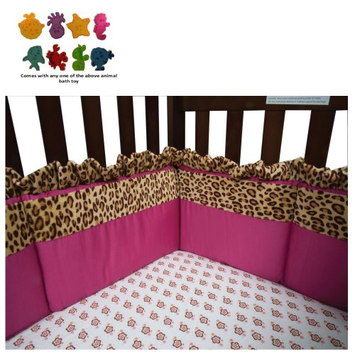 Berry Leopard - Crib Bumpers & Purchasecorner Toy Bundle front-260455