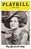 "Ingrid Bergman ""THE CONSTANT WIFE"" W. Somerset Maugham 1975 Broadway Playbill"