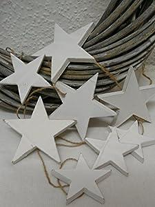 deko holz girlande sterne wei gewischt weihnachten 200 cm k che haushalt. Black Bedroom Furniture Sets. Home Design Ideas