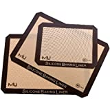 Silicone Liner 3-Pack 2-Cookie Sheet & 1-Toaster Oven Size - MIU #99122