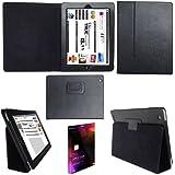 Apple iPad 2, iPad 3 & iPad 4 Premium Folio Leather Case / Cover With MAGNETIC Auto-Sleep Wake & Flip Stand For Apple iPad 2nd, 3rd & 4th Generation - BLACK - Mr Stationary® Range