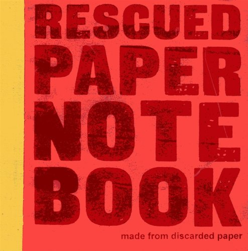 Image of Rescued paper notebook - small - red