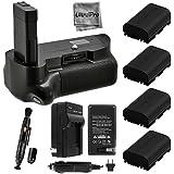 Battery Grip Bundle F/ Nikon D5500: Includes Vertical Battery Grip 4-Pk EN-EL14 Long-Life Batteries Charger Microfiber Cleaning Cloth Lens Cleaning Pen