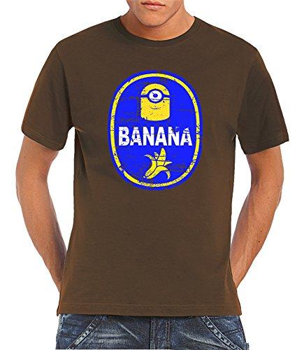 Touchlines-Camiseta-Manga-Corta-para-hombre-marrn-XX-Large