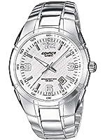 Casio - EF-125D-7A - Edifice - Montre Homme - Quartz Analogique - Cadran Blanc - Bracelet Acier Gris