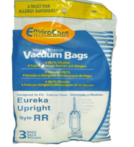 Eureka Upright Style RR Vacuum Cleaner Bags, EnviroCare Replacement Brand, designed to fit Eureka Upright Vacuum Cleaners using Style RR Bags, 99.7 Microfiltration, 3 bags in pack (Eureka Upright Rr Bags compare prices)