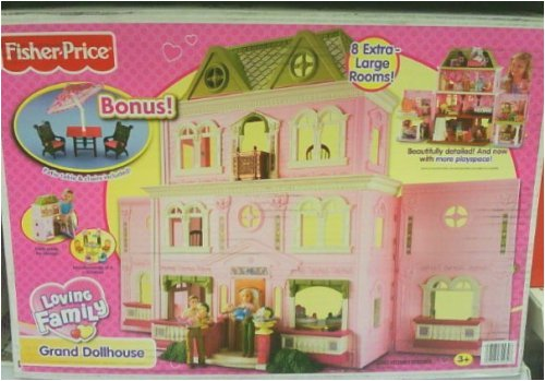Fisher-Price Loving Family Grand Dollhouse Twin Time Bonus Patio Furniture Set