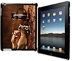 Rikki KnightTM Sack Of Coffee Beans With French Press Black Snap on Case for Apple iPad® 2 - The iPad (3rd Generation) - iPad 4 from Rikki Knight