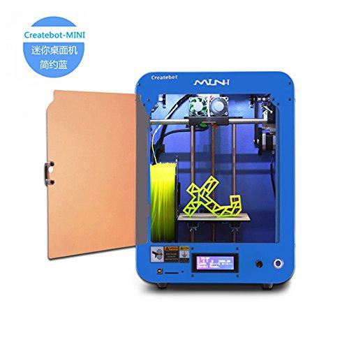 Createbot Mini FDM Desktop 3D Printer,Single Extruder,Heatbed LCD Screen. Blue