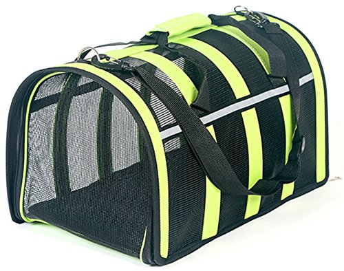 MaruPet Removable Pet Carrier Extra With 2 Side Expansion Portable Carrie Airline Approved Designed for Cats, Dogs, Kittens, Puppies Green L