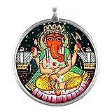 Redbag Lord Chaturbhuj Ganesa - Silver Pendant ( 3.429 Cm, 3.429 Cm, 1.27 Cm )