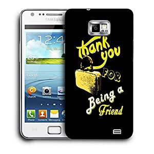 Snoogg Thank You Designer Protective Back Case Cover For Samsung Galaxy S2