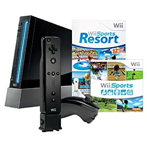 Wii with Wii Sports Resort – Black $199.99