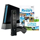 Wii Console with Wii Sports, Wii Sports Resort & Wii Motion Plus - Black - Standard Editionby Nintendo