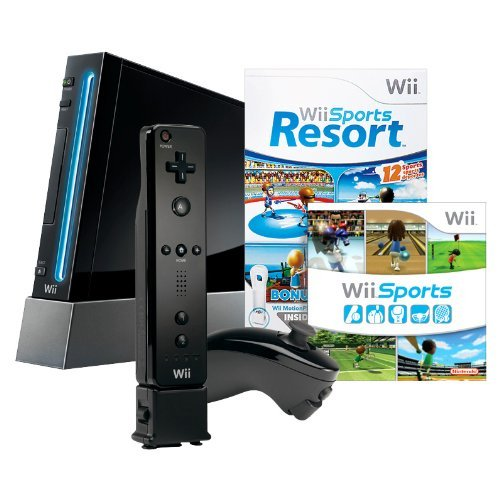 Wii with Wii Sports Resort – Black