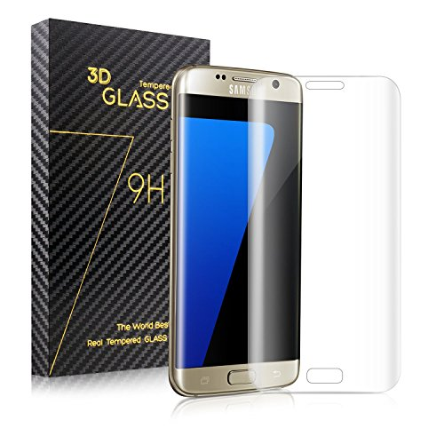 Redlink s7 edge Tempered Glass Samsung Screen Protector 3D Curved Full Coverage Ultra Clear Shatter and Scratch-Proof