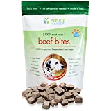 The BEST Dog Treats - All Natural Freeze Dried Beef Training Treats - Made in USA - Grain/Wheat/Gluten Free Dog Snacks - No Refrigeration Needed So Its Great For Travel - 100% Premium Meat, No Fillers