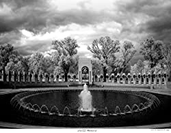 A Haunting Infrared View of the U.S. National World War II Memorial in Washington, D.C. - Dramatic Photographic Print by Carol M. Highsmith