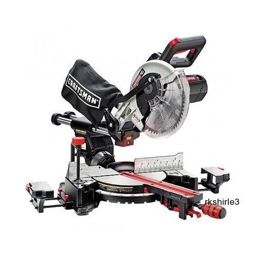 "Craftsman Miter Saw 10"" Single Bevel Sliding Compound front-518880"