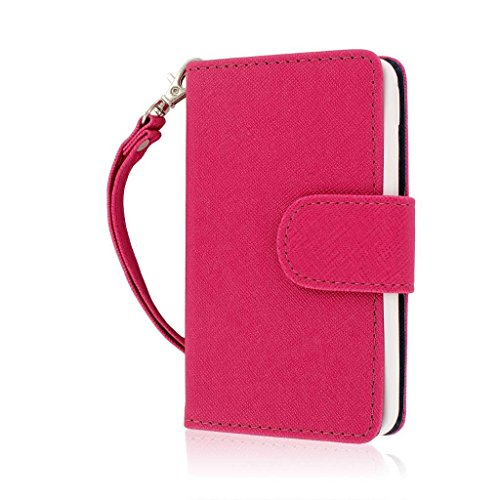 Empire MPERO FLEX FLIP Wallet Case for LG Optimus F3 MS659 - Retail Packaging - Hot Pink (Lg F3 Wallet Case compare prices)
