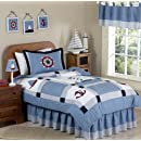 Come Sail Away Nautical Childrens Bedding 3pc Full Queen Set By Sweet Jojo Designs
