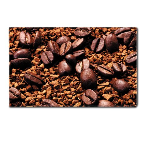 Espresso Coffee Beans Scatter Roasted Table Mats Customized Made To Order Support Ready 24 Inch (610Mm) X 14 15/16 Inch (380Mm) X 1/8 Inch (4Mm) High Quality Eco Friendly Cloth With Neoprene Rubber Luxlady Small Deskmat Desktop Mousepad Laptop Mousepads C