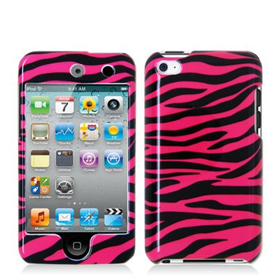 Color/Design: Black Pink Zebra Crystal Case; Protect your iPod Touch