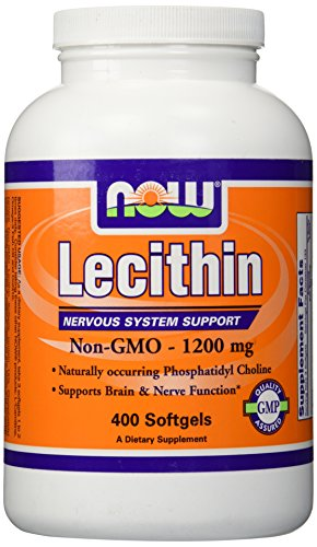 NOW Foods Lecithin, 400 Softgels/1200mg