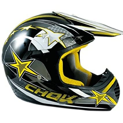 Casque moto cross CHOK STAR 14 - Noir / Jaune