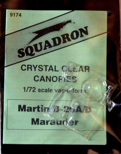 Squadron Products B-26A Marauder Vacuform Canopy