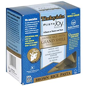 Tinkyada Grand Shell Brown Rice Pasta 8 oz. (Pack of 12)
