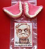 Novelty sweet joke dentures set. Perfect fun gift for retirement, anniversary, birthday 40th, 50th,60th etc