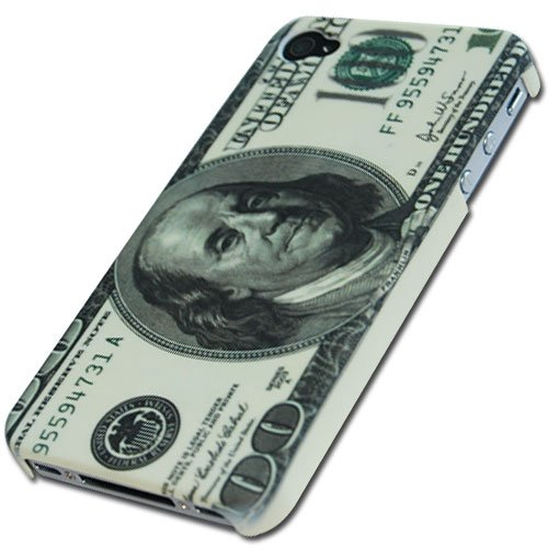 Cool Money Designer Hard Back Case Cover for Apple iPhone 4 4G 4s AT&A Verizon 4S U.S. Dollar