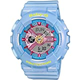 Casio Women's BA-110CA-2A Baby-G Analog/Digital Quartz Light Blue Watch