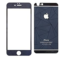 Exoic81 3D Diamond Pattern Mirror Front + Back Tempered Glass Screen Protector For Apple iPhone 5 / 5G / 5S - DarkBlue