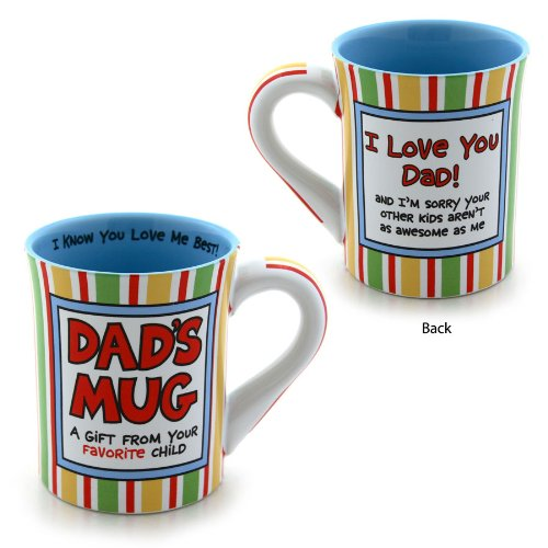Enesco 4026941 Our Name Is Mud By Lorrie Veasey Dad Favorite Child 16-Ounce Mug, 4-1/2-Inch